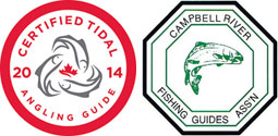 member Campbell River Guiding Association and Tidal Angling Certified