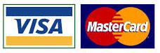 We Accept Visa and MasterCard